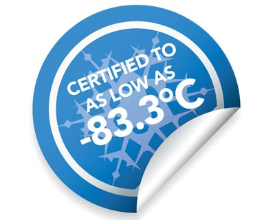Certified to -83.3°C