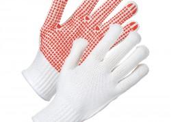 Red Dot White Heavyweight Grip Gloves