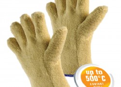 Gloves made of Aramid terry fabric
