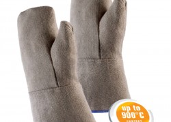 Mitts made of HT fibre-glass fabric